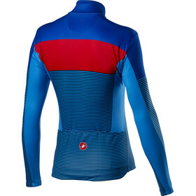 Castelli Marinaio Longsleeve Jersey Doorlopende Rits Heren, rescue blue/red